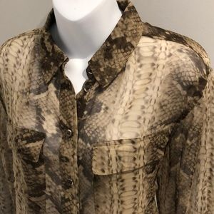 Equipment Small Silk Snake print blouse